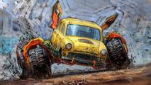 Moskvich 407 Russian Monster Robot Car