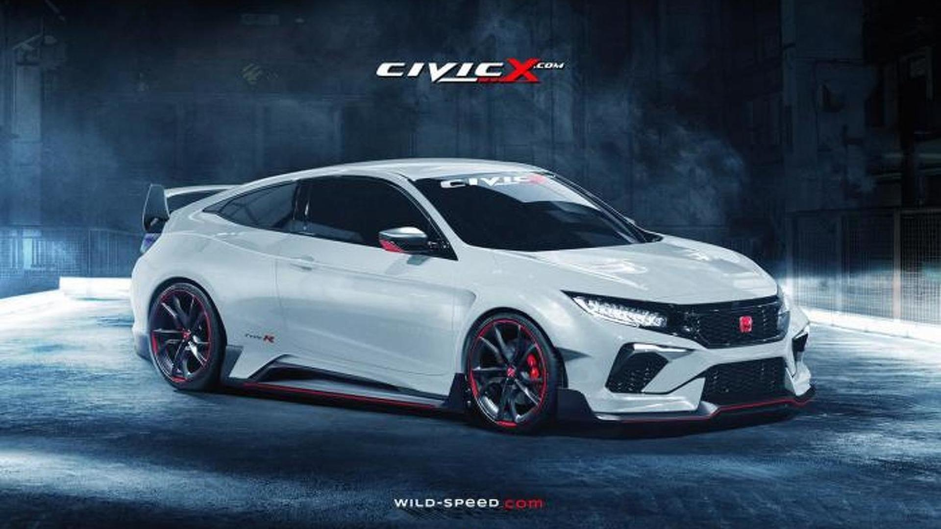 Honda Civic Type R Coupe renders show stunning design