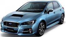 Subaru Levorg hatchback render