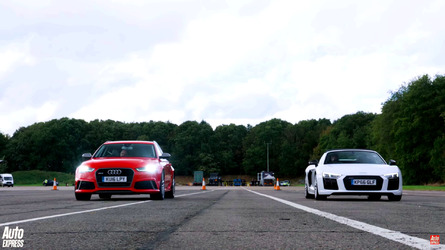 Can an Audi RS6 beat a R8 Spyder in a drag race?