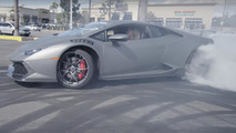 Watch this couple drift Lamborghini Huracan around dealer lot