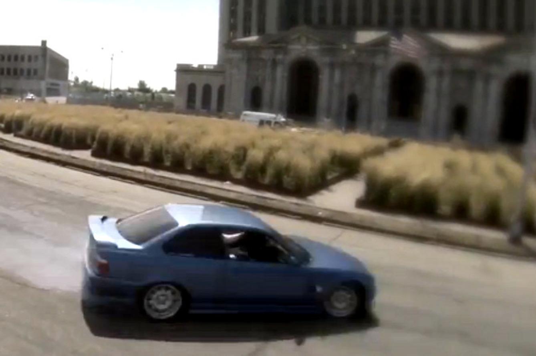 Racers Drift Through Detroit's Ruins