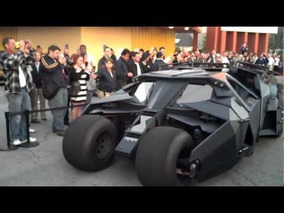 Tumbler and Batmobile Leave