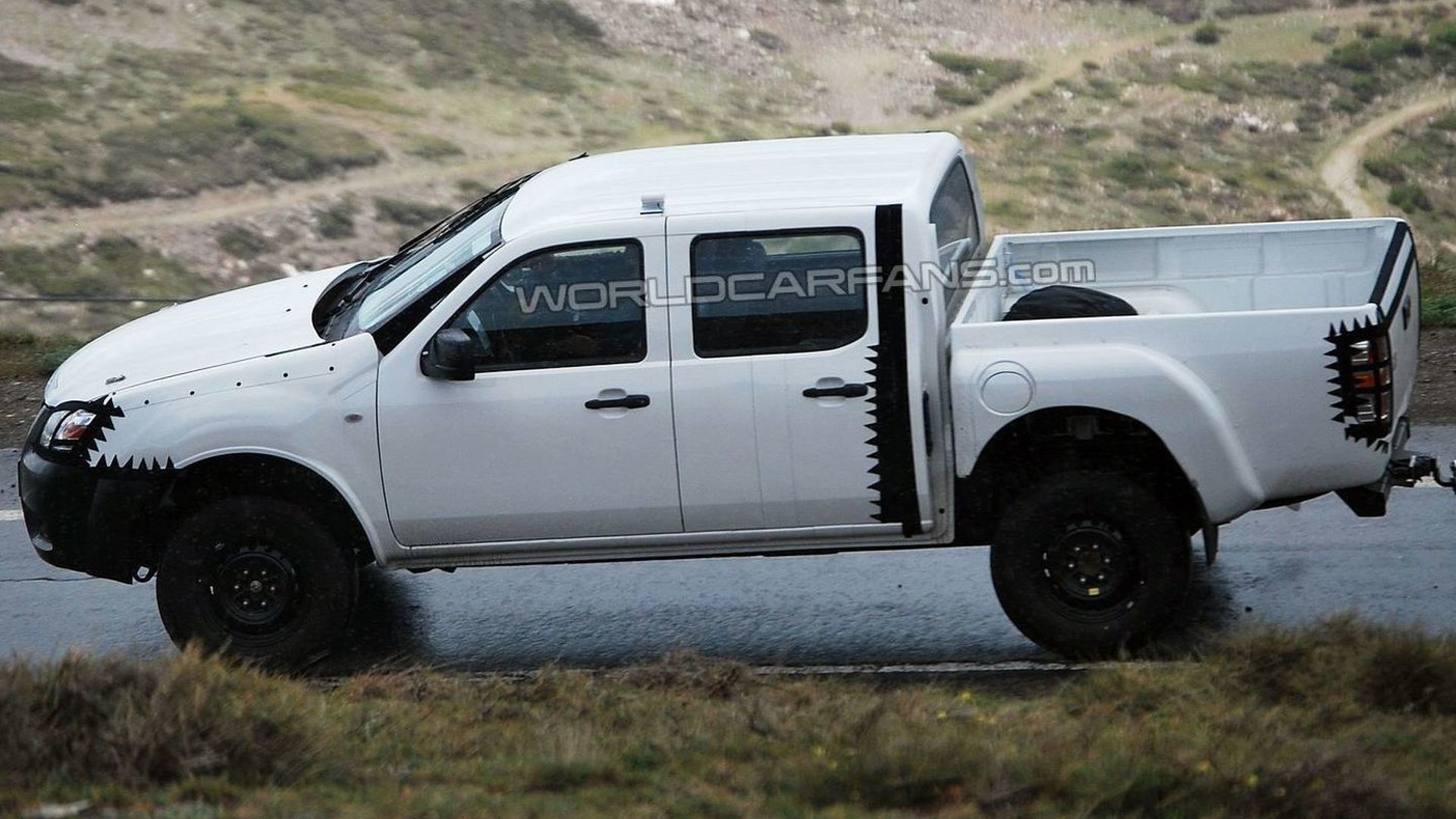 2012 Next Gen Ford Ranger double cab spied in the Alps