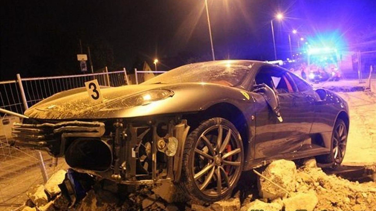 Ferrari F430 crashed in the Czech Republic
