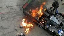 Ferrari P4/5 caught fire at Nurburgring 24 Hours
