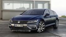 Volkswagen CC Shooting Brake render