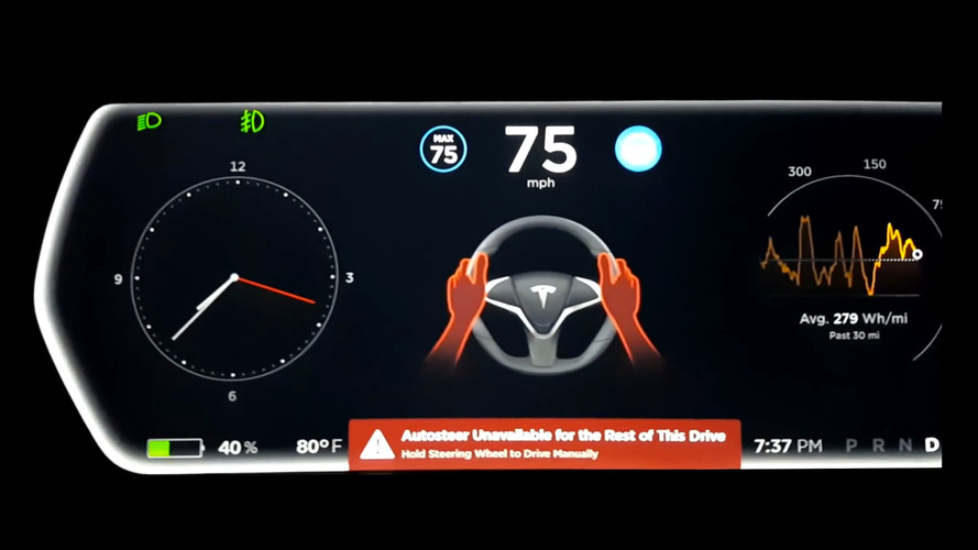 Tesla Autopilot v8.0 update really wants you to pay attention