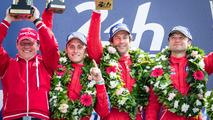 LMGT Am podium_ class winners #62 Scuderia Corsa Ferrari 458 Italia_ Bill Sweedler, Jeff Segal, Townsend Bell-4