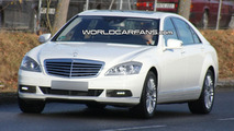2010 Mercedes S-Class Facelift Spied in White