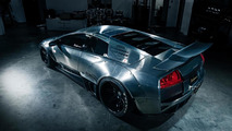 Lamborghini Murcielago with brushed aluminum wide body kit