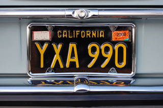 California Brings Back 1963-69 Black-and-Yellow License Plates
