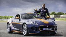 Jaguar F-Type R Coupe tests the parachute deployment for the Bloodhound SSC [video]