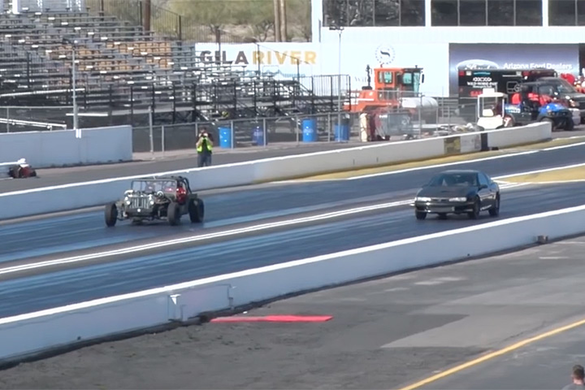 Watch a Twin-Turbo Willys Jeep Unleash at the Drag Strip
