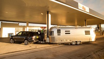Range Rover tows an Airstream from English Lake District to Morocco and back