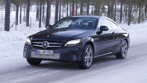 Mercedes C-Class Coupe facelift spy photo