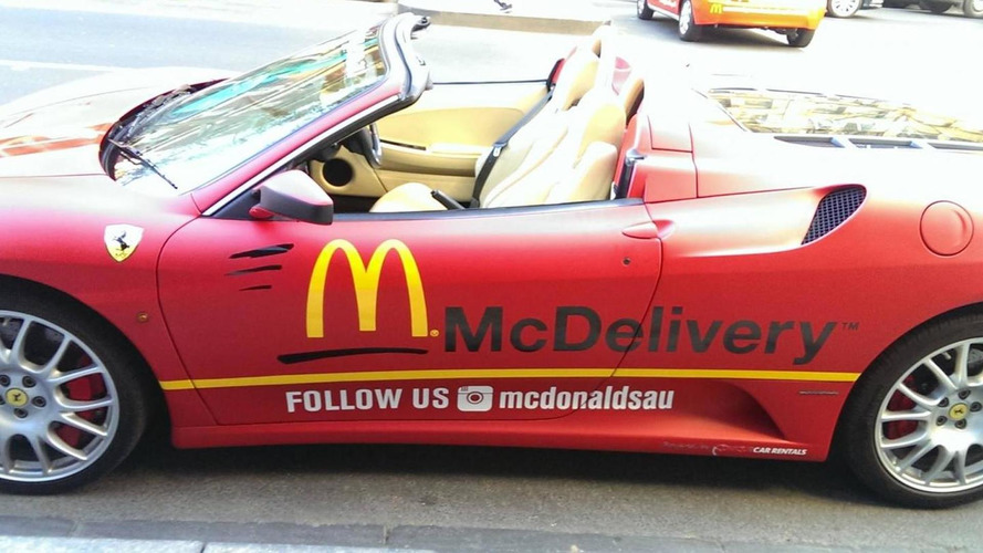 Ferrari F430 Spider used as delivery vehicle in Melbourne
