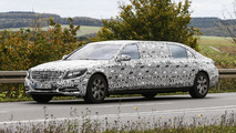 Mercedes S600 Pullmann spy photo