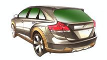 Toyota Venza AS V project sketch by Five Axis