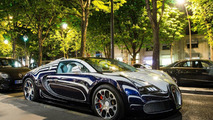 Bugatti Veyron L'Or Blanc on the streets of Paris [videos]