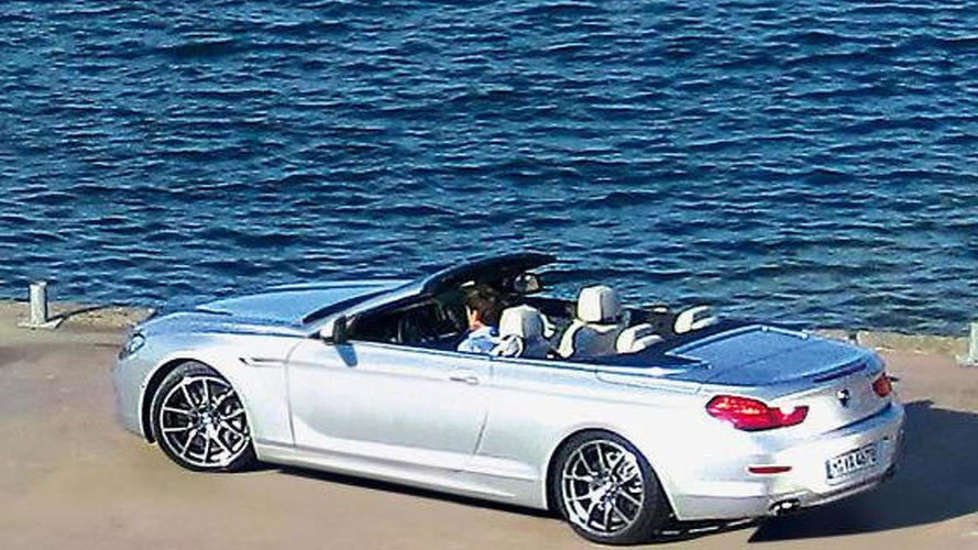 BMW 6-Series cabrio spied at photo shoot