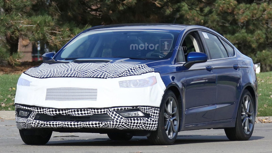 2017 Ford Fusion facelift spied in Michigan