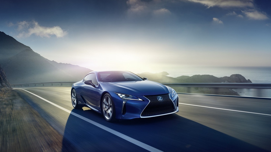 Lexus LC 500h revealed with hybrid power ahead Geneva