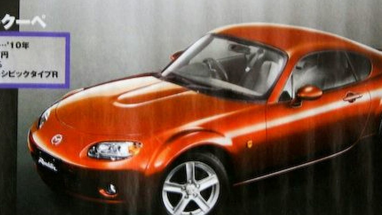 Rendering of a possible Mazda MX-5 Coupe