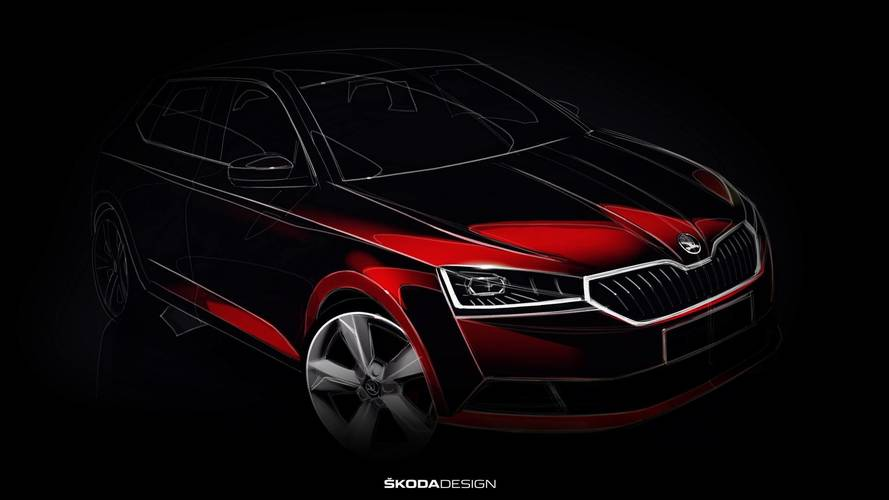 2018 Skoda Fabia facelift teased with design sketch