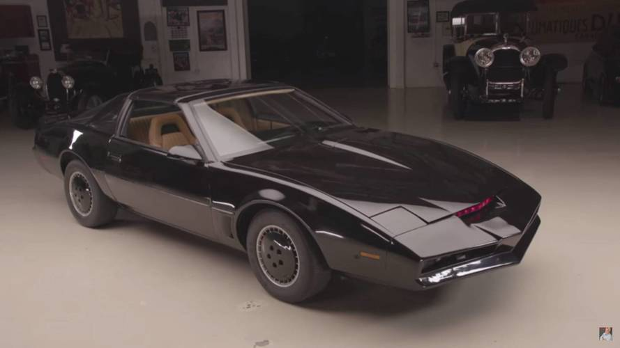 Jay Leno Drives An Original K.I.T.T. From Knight Rider