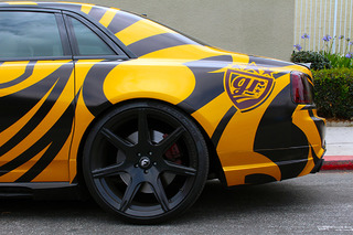 RDB LA Unveils Its Striped Rolls-Royce Ghost for Gold Rush Rally