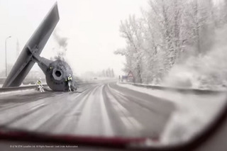 Watch a Star Wars TIE Fighter Cause a Traffic Snarl