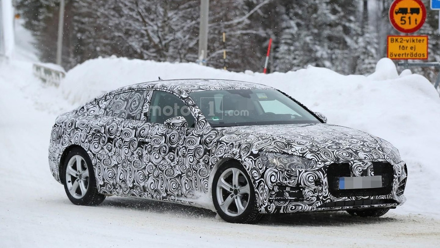 2017 Audi A5 Sportback spied in chilly environment