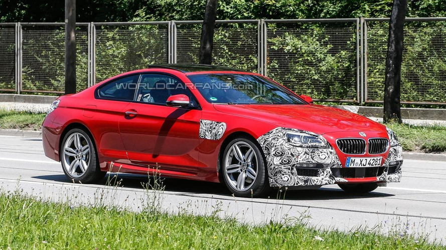2015 BMW 6-series coupe facelift spied almost undisguised