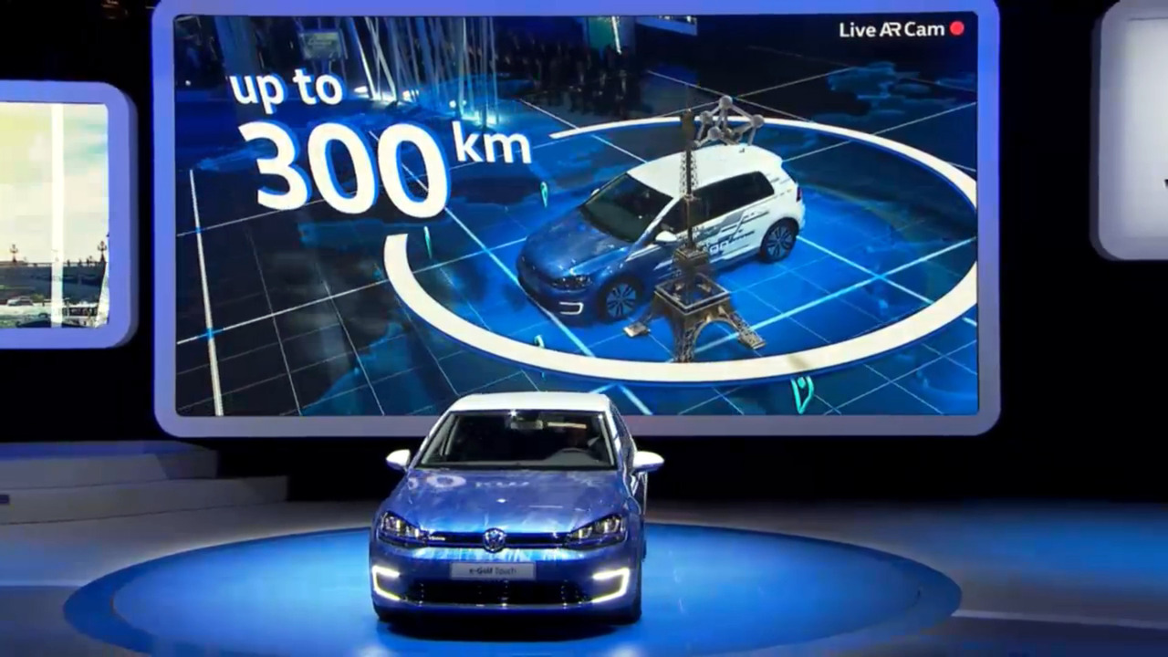 VW e-golf debut Paris 2016