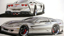 Specter Werkes Corvette GTR Sketched Out