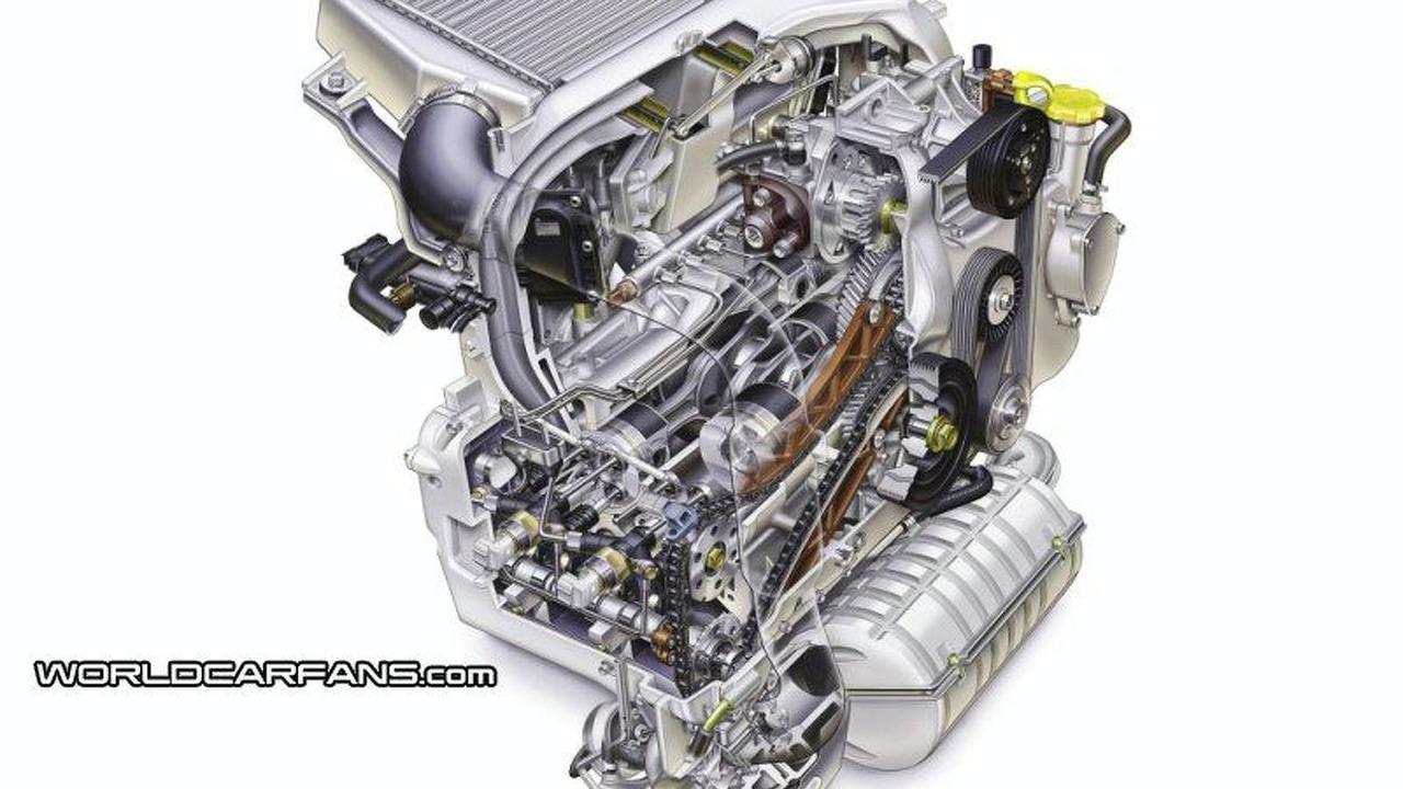 Subaru Boxer Turbo Diesel engine cutaway view