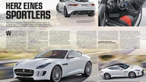 Jaguar F-Type magazine leak 19.11.2013