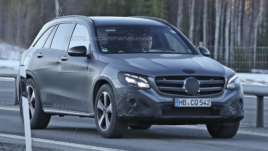 Mercedes-Benz GLC prototypes spotted thinly camouflaged in 38 pics