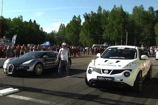 Nissan Juke-R Nearly Out Drags a Bugatti Veyron [video]