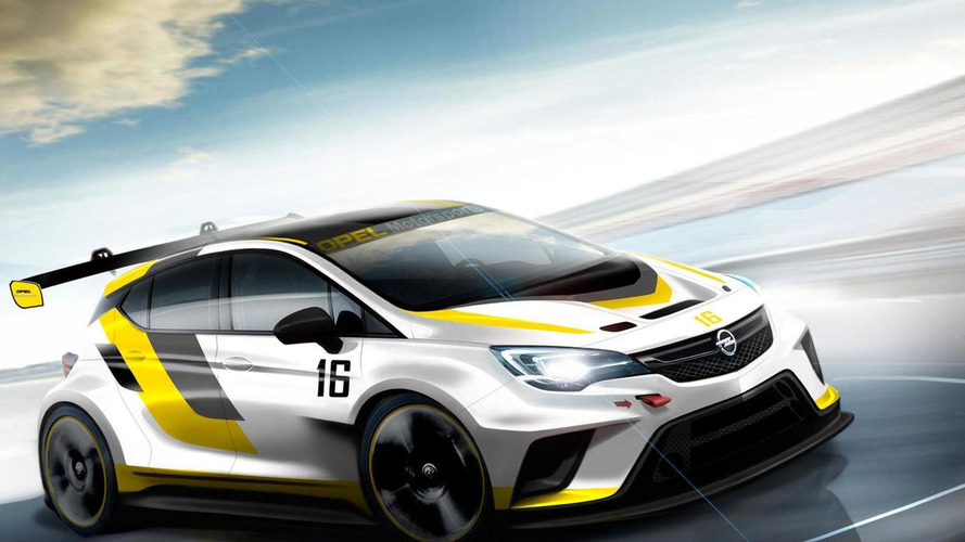 Opel Astra TCR race car teased for Frankfurt
