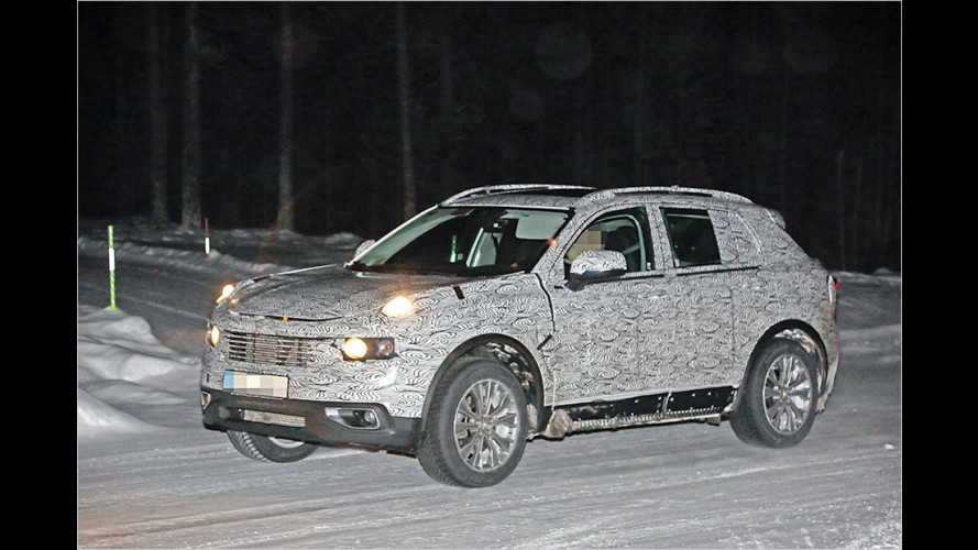 China-SUV beim geheimen Wintertest