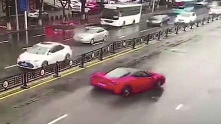 Ferrari 458 Crashed Moments After Leaving Dealership