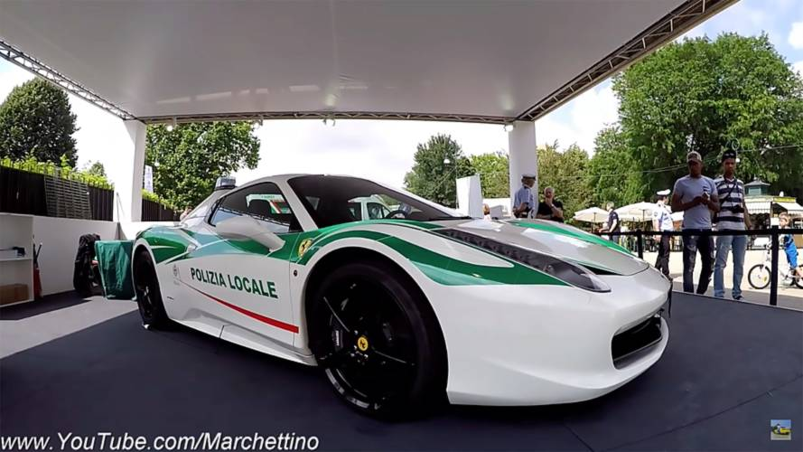 Ex-Mafia Ferrari 458 Spider Is Now A Police Car