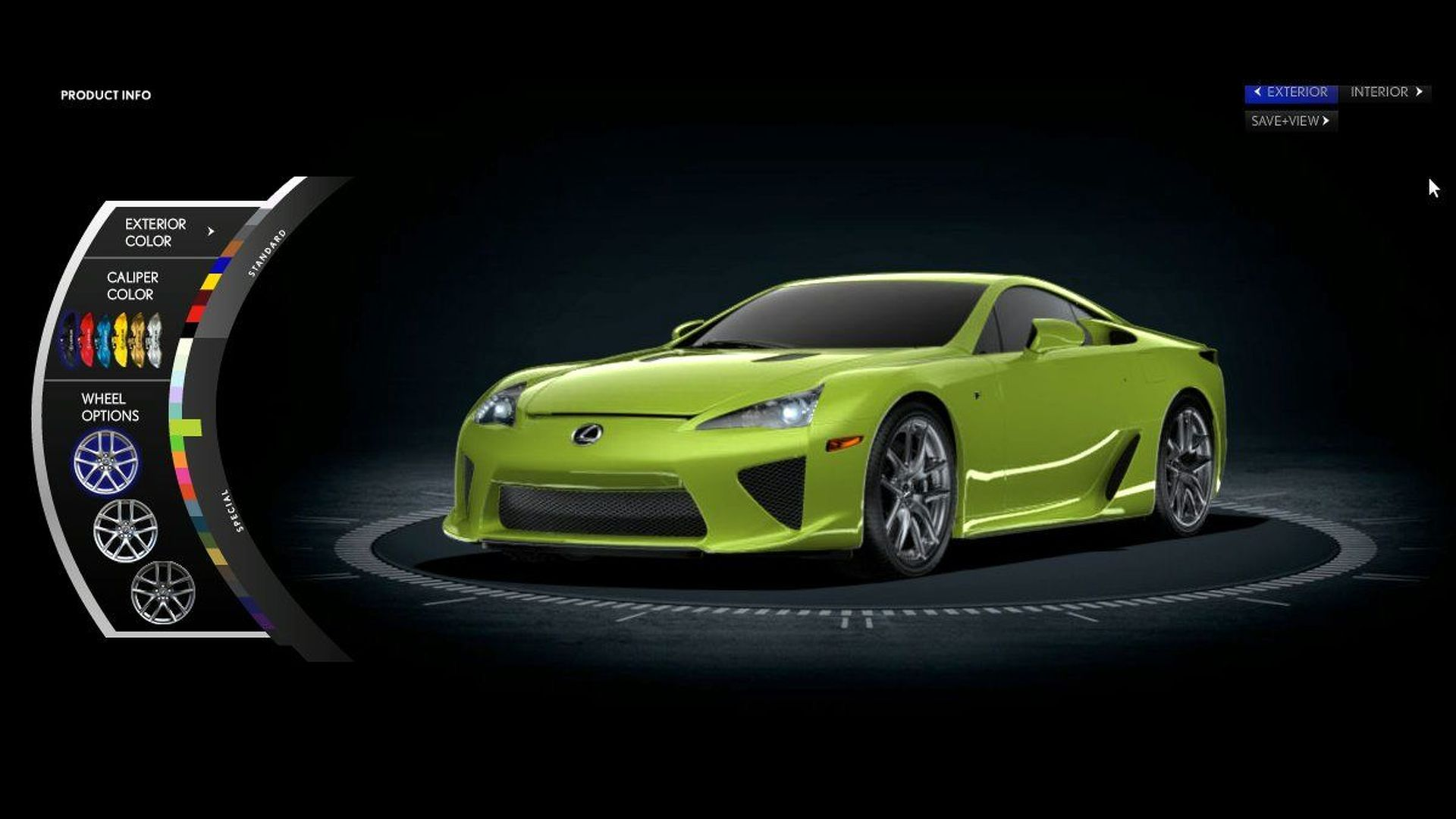 Lexus LFA Online Configurator Released   Features U0027Special Colorsu0027 Palete