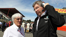 Bernie Ecclestone and Ross Brawn 02.09.2012 Belgian Grand Prix