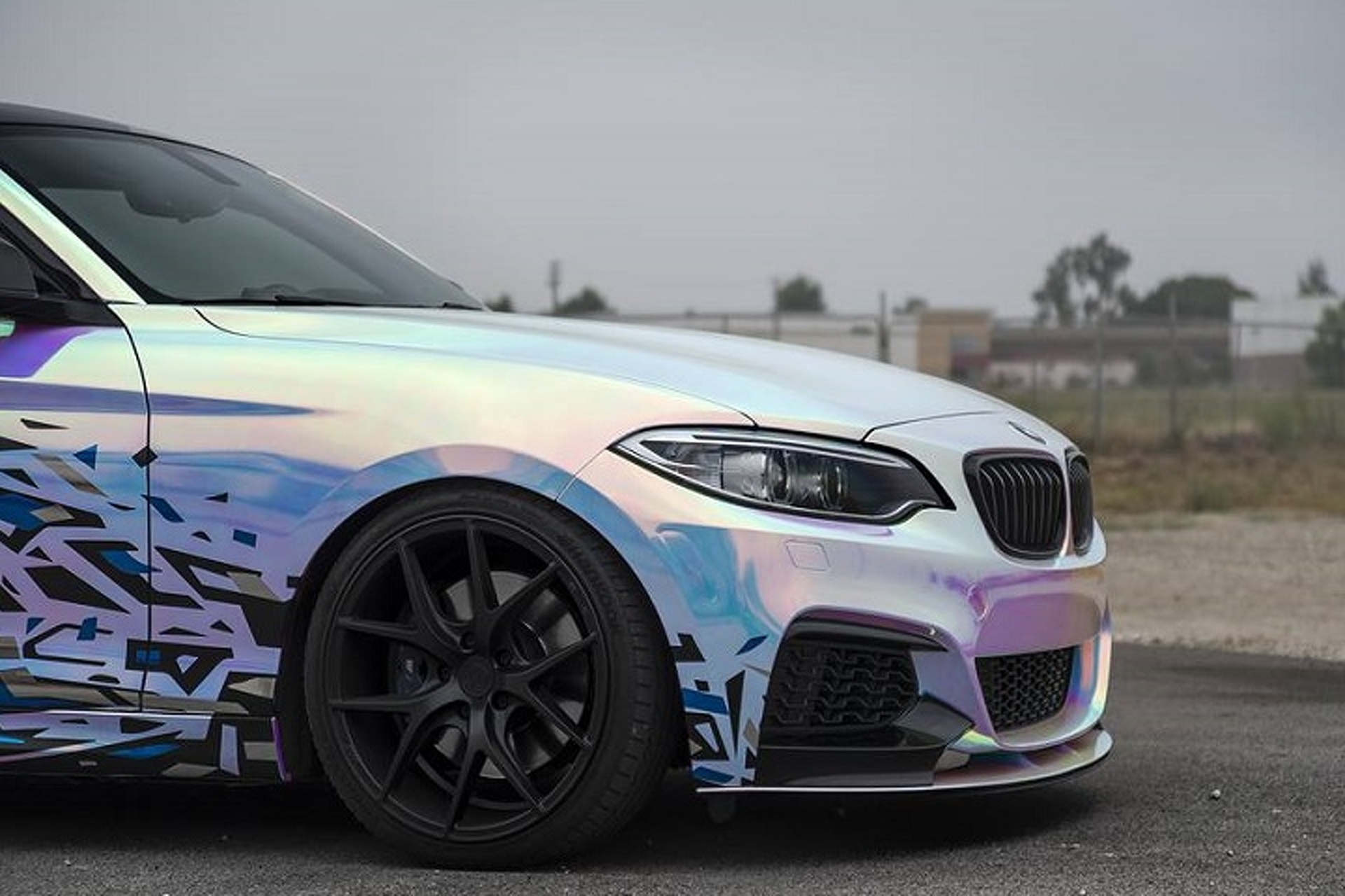 BMW M235i Gets Wild With A Rainbow Wrap
