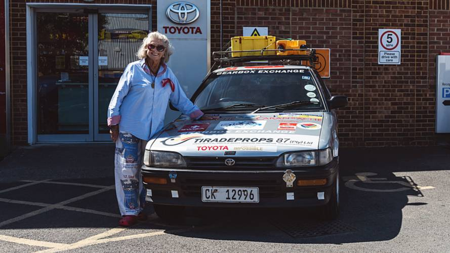 Pensioner drives 20-year-old Toyota from Cape Town to London