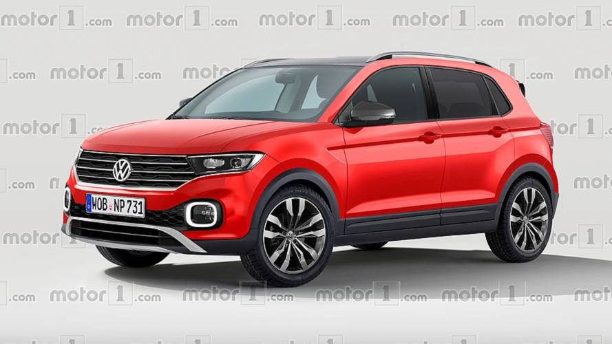 volkswagen t cross 2018 render anticipo del futuro suv de volkswagen. Black Bedroom Furniture Sets. Home Design Ideas