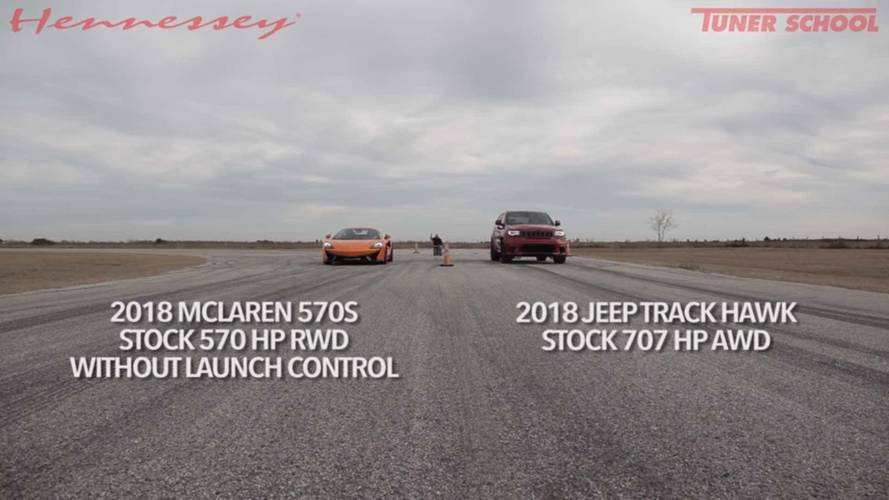 Jeep Grand Cherokee Trackhawk Vs McLaren 570S